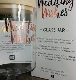 Gratitude Glass Jar Wedding Wishes Glass Jar
