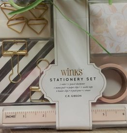 CR Gibson Winks Stationery Set