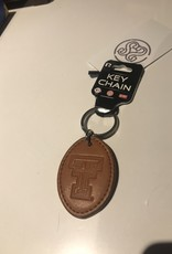 Stag GameDay Double T Leather Keychain