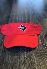 Stag GameDay Game Day Visor Red Black TECH/White Outline