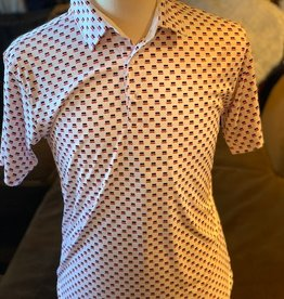 Stag GameDay Mustache All Over Print Polo