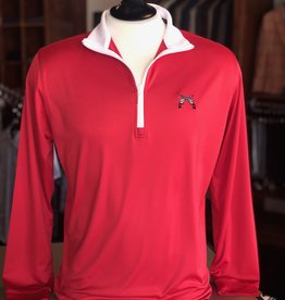 Stag GameDay Cross Guns Performance 1/4 Zip Red/White