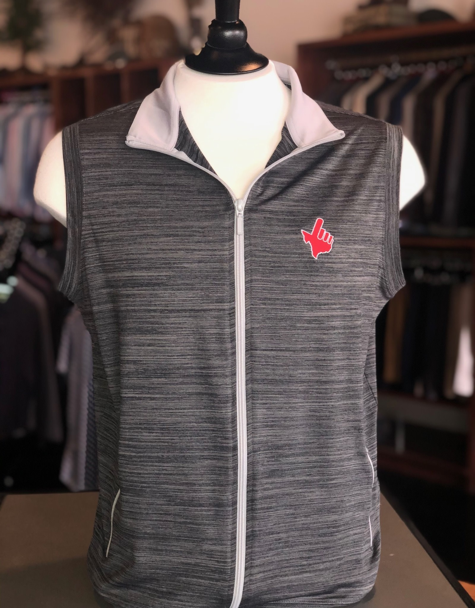 Stag GameDay Black/Grey Stripe Performance Vest Texas Hand