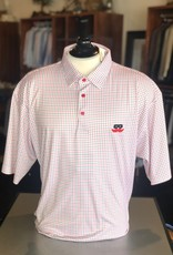 Stag GameDay Black/Red Windowpane Mustache Polo