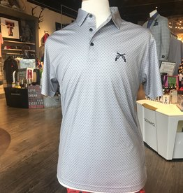 Stag GameDay Grey/Charcoal Bullseye Polo- Cross Guns