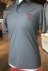 Stag GameDay Black/Grey Herringbone Polo- Double T