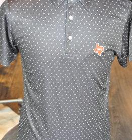 Stag GameDay Black/White Arrow Polo- Texas State