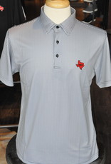 Stag GameDay Black/Grey Gingham Polo- Texas State