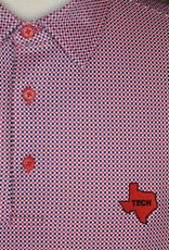 Stag GameDay Red/Black Gingham Polo- Texas State