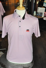 Stag GameDay White/Red/Black Crossways Polo- Mustache