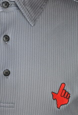 Stag GameDay Black/Grey Herringbone Polo- Texas Hand