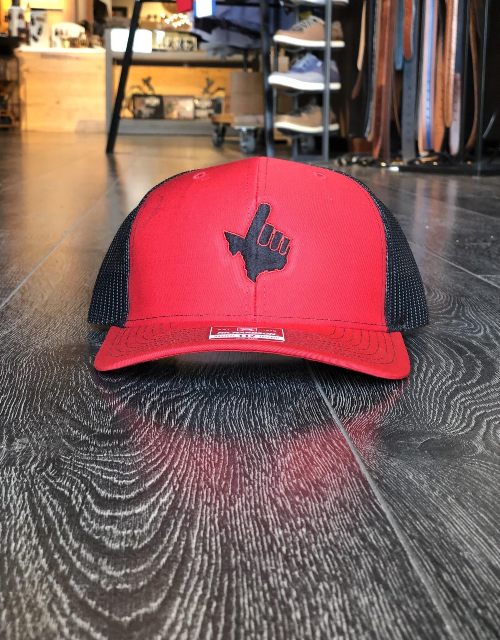 Stag GameDay Richardson 112 Trucker Hat Red/Black Texas Hand