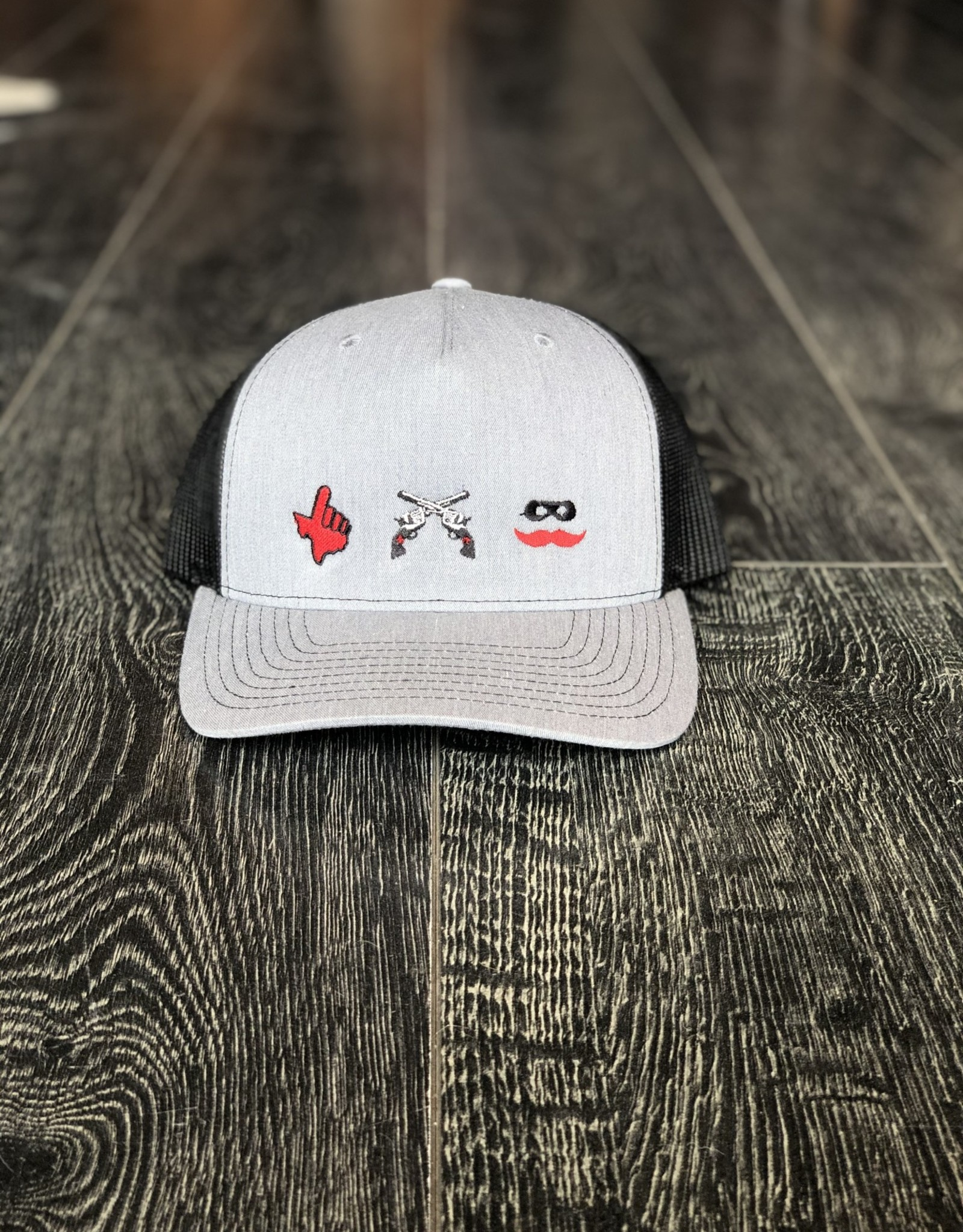 Stag GameDay Richardson 112FP Charcoal/Black 3 Stag Logos Hat
