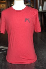 Stag GameDay Red Crew Neck Shirt- Cross Guns