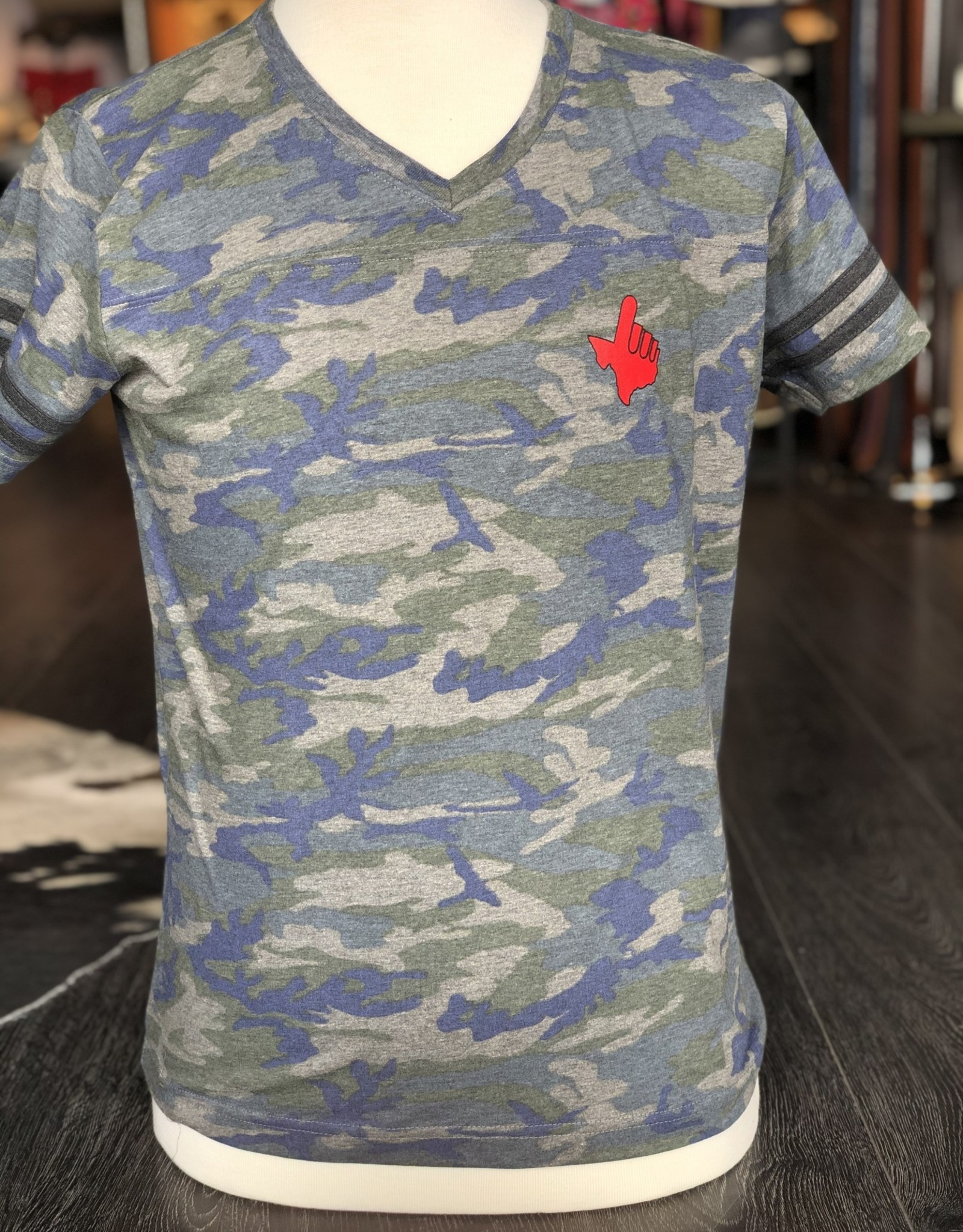 Stag GameDay Ladies Camo Tee- Texas Hand