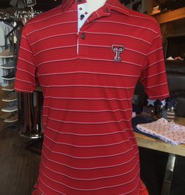 Stag GameDay Classic Red Stripe Texas Hand Trim Polo- Double T