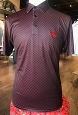 Stag GameDay Black/Red Bullseye Print Polo- Texas Hand