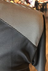 Stag GameDay Charcoal/Shoulder Stripe Polo- Cross Guns