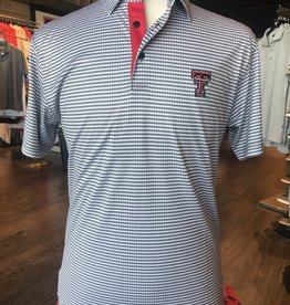 Stag GameDay Black/Grey Houndstooth Polo- Double T