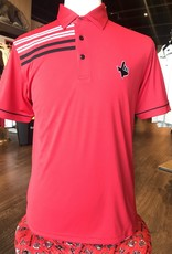 Stag GameDay Red Shoulder Stripe Polo- Texas Hand