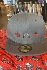 Stag GameDay Charcoal Flat Bill Hat 3 Logo