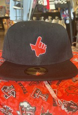 Stag GameDay Black Flat Bill Red Texas Hand
