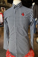 Stag GameDay Black/Grey Gingham Texas Hand