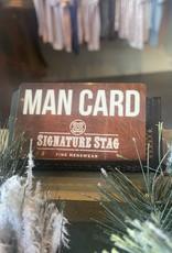 $150  Man Card with bonus $20