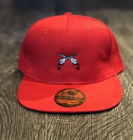 Stag GameDay Red Flatbill Hat Cross Guns