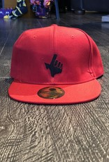 Stag GameDay Red Flatbill Hat Black Texas Hand