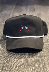 Stag GameDay Black Rope Hat Cross Guns