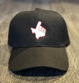 Stag GameDay Black Baseball Hat White Texas Hand