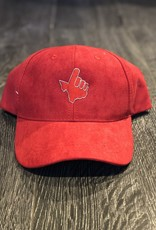Stag GameDay Red Suede Hat Red Texas Hand