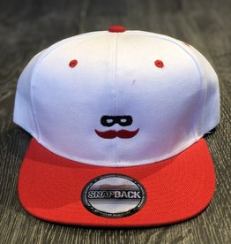 Stag GameDay White/Red Flatbill Hat Mustache