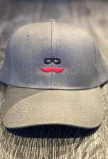 Stag GameDay Charcoal Baseball Hat Mustache