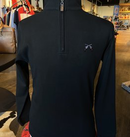 Stag GameDay Black 1/4 Zip Pullover Cross Guns