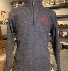 Stag GameDay Black Wool 1/4 Zip Texas Hand/Guns Up