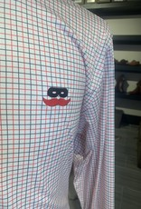 Stag GameDay Red/Black Long Sleeve Button Up Mustache/AOP Cuff
