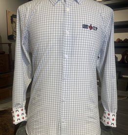 Stag GameDay Black/White Woven Button Up Guns Up/AOP Cuff