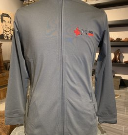 Stag GameDay Women's Charcoal Performance Full Zip 3 Logo