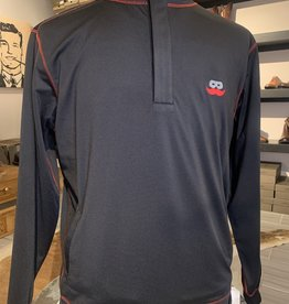 Stag GameDay Black 1/4 Zip Pullover Mustache
