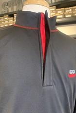 Stag GameDay Black 1/4 Zip Pullover Mustache