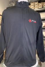Stag GameDay Black/Red Full Zip Gingham Trim 3 Logo