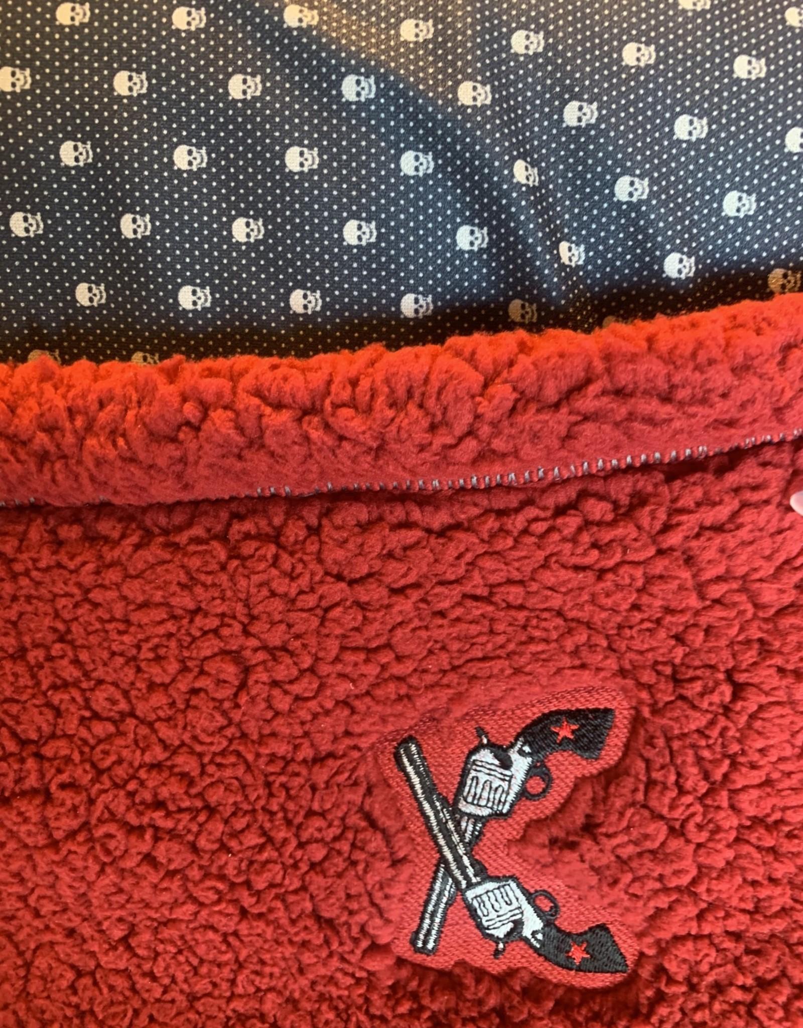 Stag GameDay Red Blanket Cross Guns & Skulls