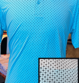 Horn Legend Turquoise/Black Daisy Polo