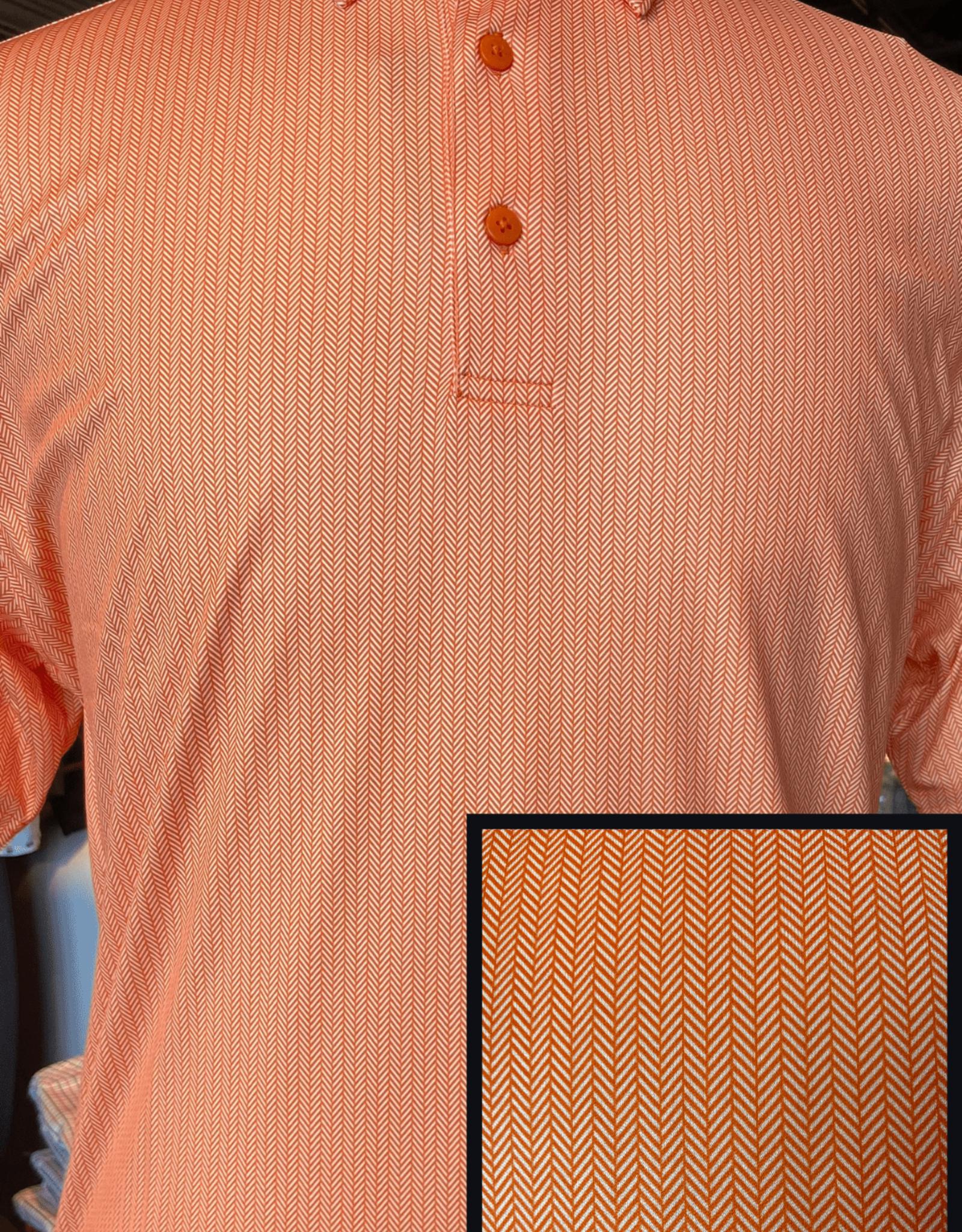 Horn Legend Orange Herringbone Polo