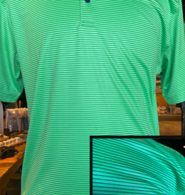 Horn Legend Horn Legend- Island Green/Navy Stripe Polo