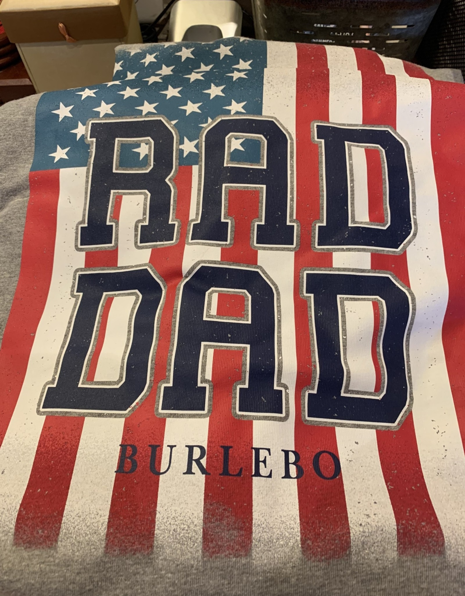 Burlebo Burlebo- S/S Dark Heather Grey Rad Dad