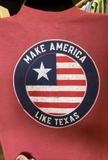 Burlebo Burlebo- S/S Red Make America Like Texas
