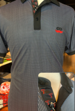 Stag GameDay Black/White Gingham Mustache Polo